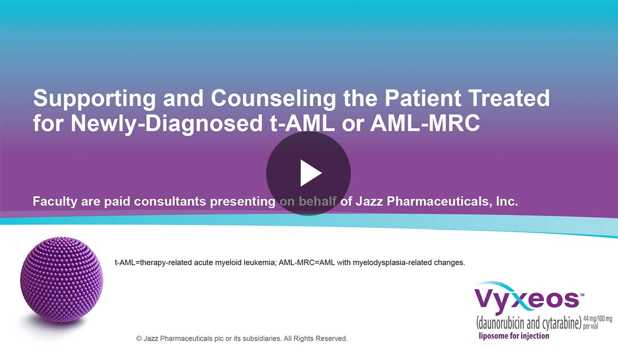 Thumbnail of Support and counseling in t-AML or AML-MRC Video