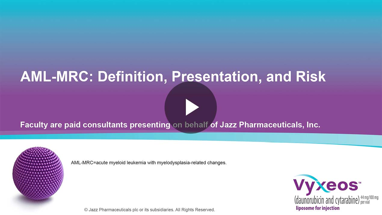 Thumbnail of AML-MRC: definition, presentation, and risk Video